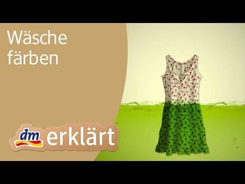 Dm Erklärt Haushalt Für Einsteiger Wäsche Färben Youtube