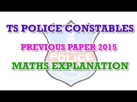TS Police Constable Prelims Previous Paper 2015 Explanation by Manavidya