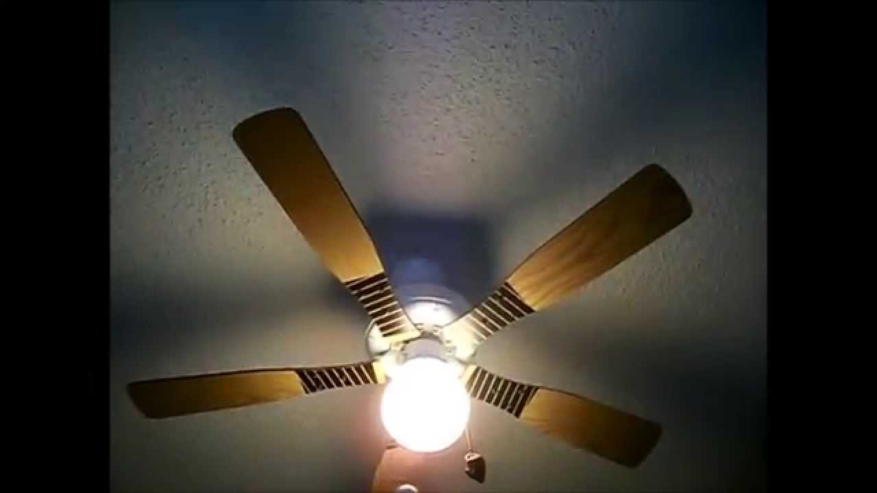UPDATE on baseball ceiling fan - YouTube