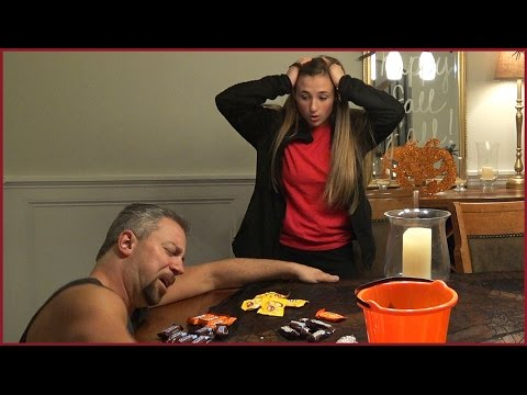 Poisoned Halloween Candy Prank on Girl - Family Scare Tactics
