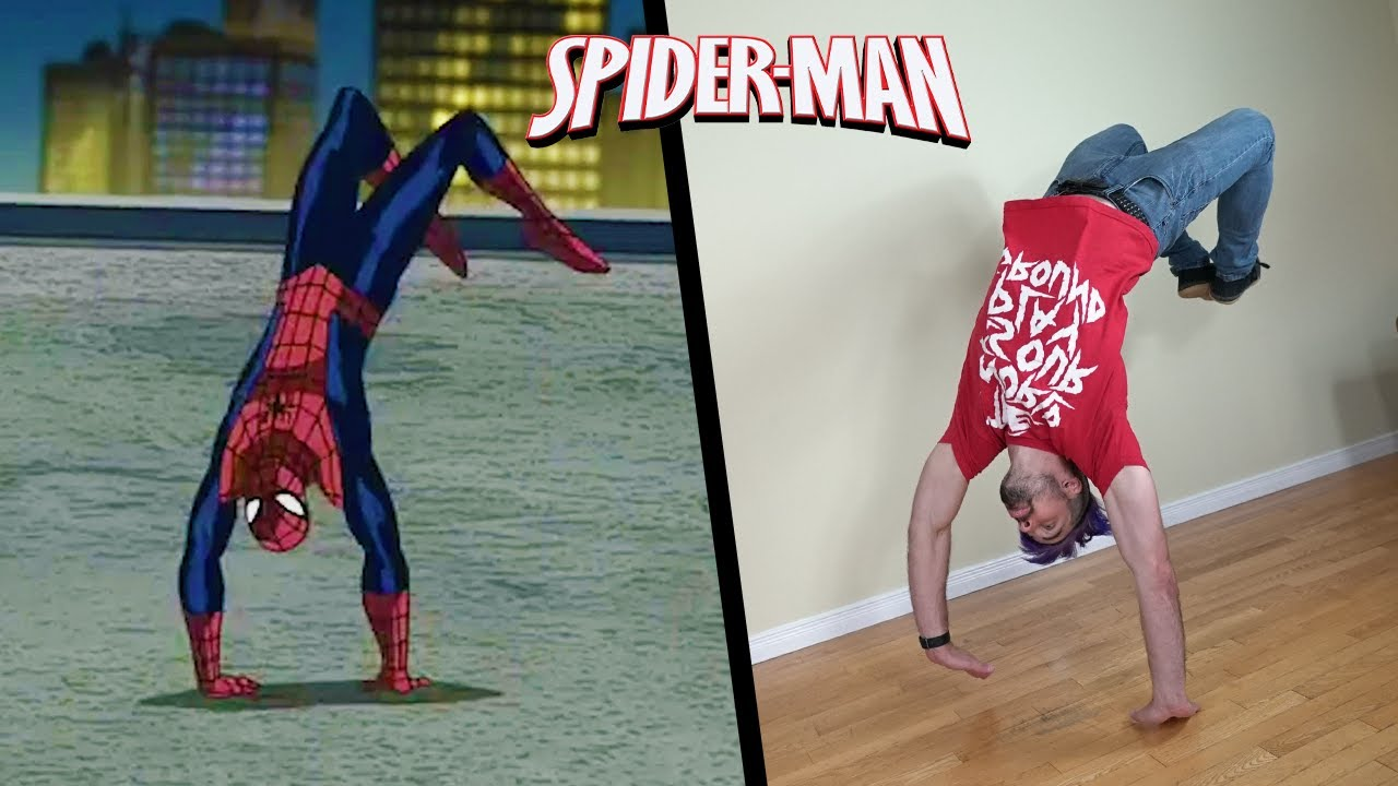 Stunts From Spiderman In Real Life (Ultimate Spider-Man)