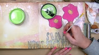 Art Journaling With Dylusions Paints - Mixed Media Art Journal With Me