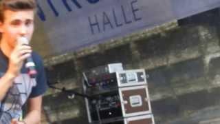 """Sebastian Wurth singt """"Ich Will Mit Dir Chillen"""" LIVE in Halle/Saale (07.09.2013)"""