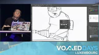 Voxxed Days Luxembourg 2016: Live-drawing by Etienne Issartial (Commit Strip)