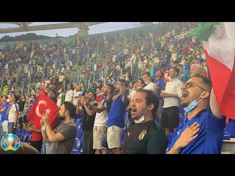 Italy and Turkey National Anthems at the EURO 2021 Opening Game in Rome