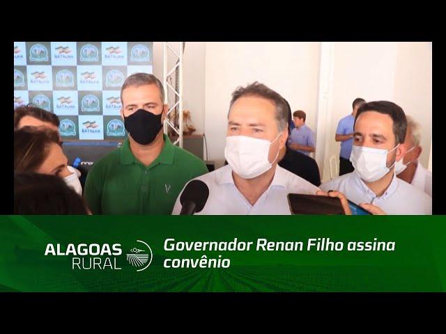 Governador Renan Filho assina convênio que garante recursos para construção do IFAL em Batalha