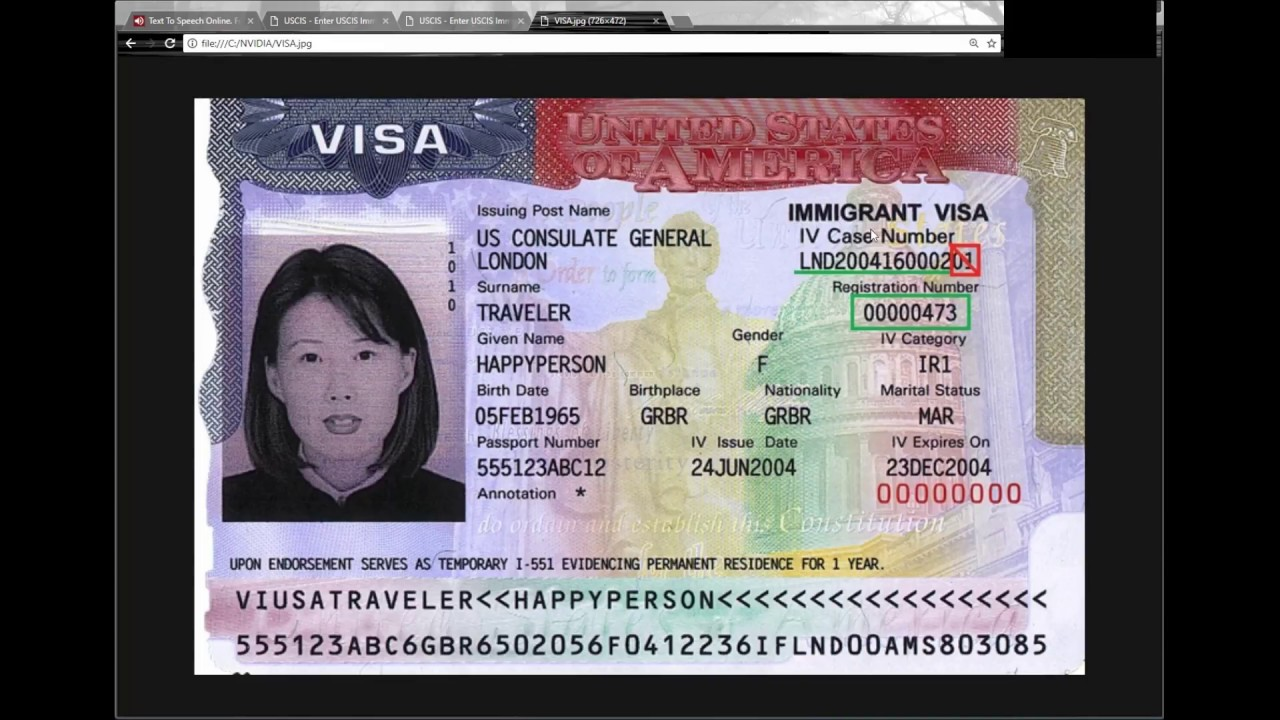 green card online