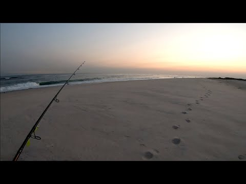 Surfcasting The South Shore After Work - Fall Run Fishing - Long Island NY