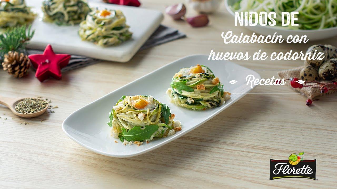 Nidos De Calabacín Con Huevos De Codorniz Recetas Florette