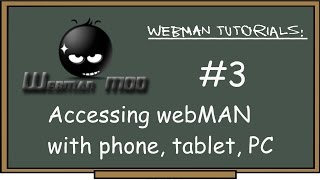 PS3 - webMAN Tutorial #3 Access webMAN through phone, tablet or PC browser