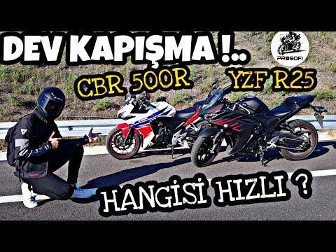 CBR 500R VS R25 & DEV KAPIŞMA & KİM DAHA HIZLI ?