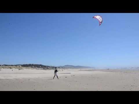 Kitesurfer in Manzanita, OR