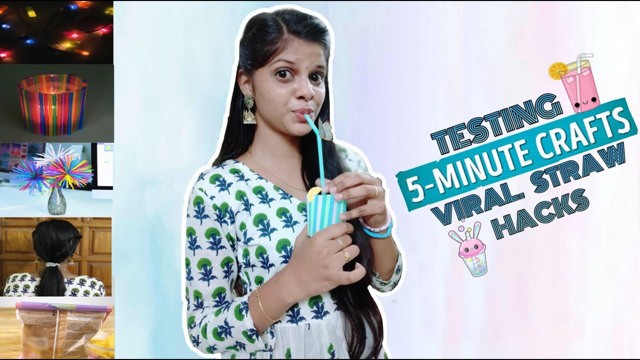 TESTING OUT VIRAL STRAW HACKS by 5 minute crafts [TAMIL]