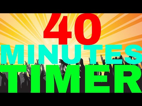Timer 40 Minutes Countdown Clock - Продолжительность: 41:00