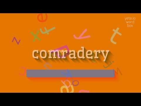"""How to say """"comradery""""! (High Quality Voices)"""