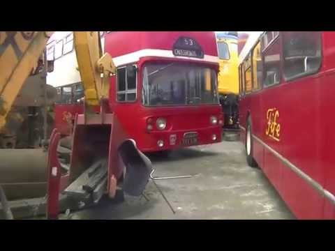 Preserved buses at Methil Scotland