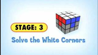 Stage 3:  Solve The White Corners Of The Rubik's Cube