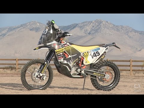 Riding a Dakar Rally motorcycle