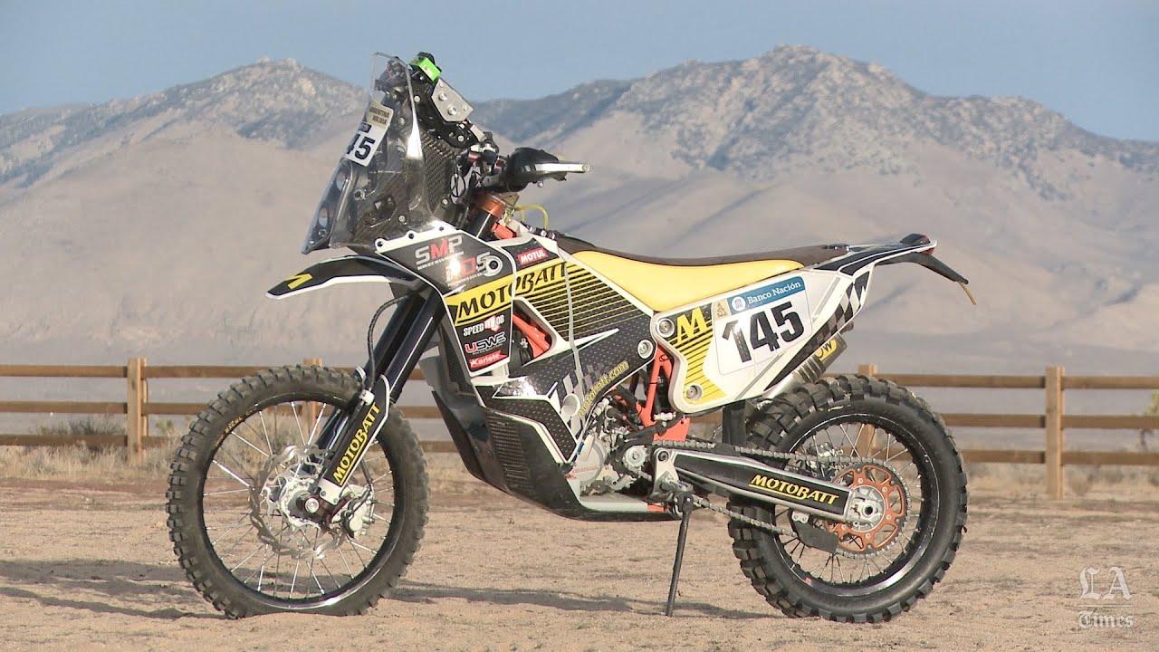 Riding A Dakar Rally Motorcycle Youtube