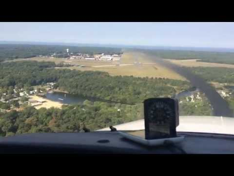 Landing at Cape May Airport (WWD, former NAS Wildwood)