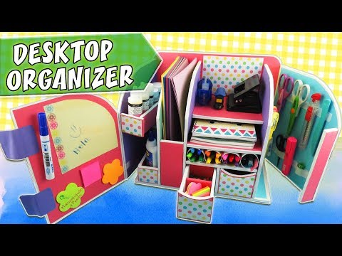 DESKTOP ORGANIZER - Cardboard - Back to school | aPasos Crafts DIY