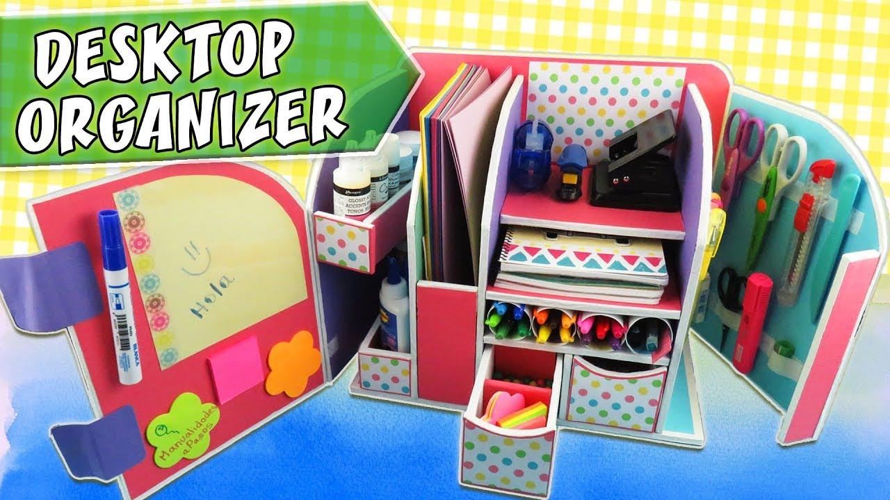 DESKTOP ORGANIZER   Cardboard   Back To School | APasos Crafts DIY