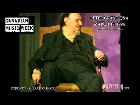Peter Grant Toronto 1994 interview - led zeppelin