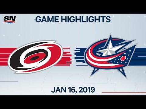 NHL Highlights | Hurricanes vs. Blue Jackets – Jan. 16, 2020