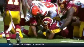 Dunbar Recovers Fumble & Matt Jones Leads Redskins 91-Yard TD Drive! | Browns vs. Redskins | NFL
