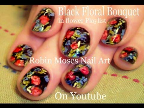 DIY Flower Nail Art | Vintage Bouquet Nails Design Tutorial