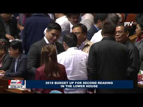 2018 budget up for second reading in the lower house