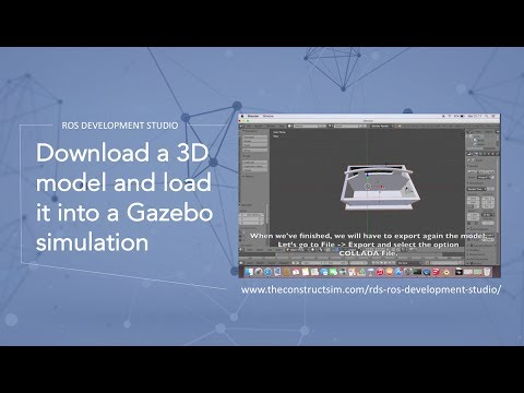 Download a 3D model and load it into a Gazebo simulation