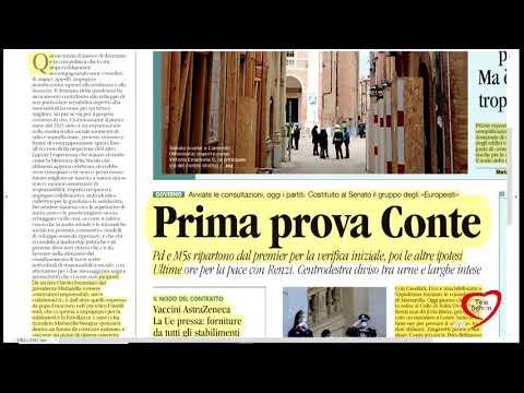 I giornali in edicola - la rassegna stampa 28/01/2021