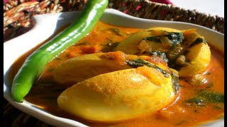 Recipe - Egg Menthikura (Egg & Fenugreek Leaves Curry) Recipe With English Subtitles