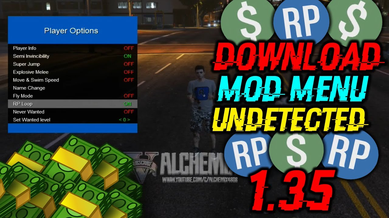 GTA 5 PC Online 1 35 Update 791 2 Mod Menu Unlimited RP [Undetectable]
