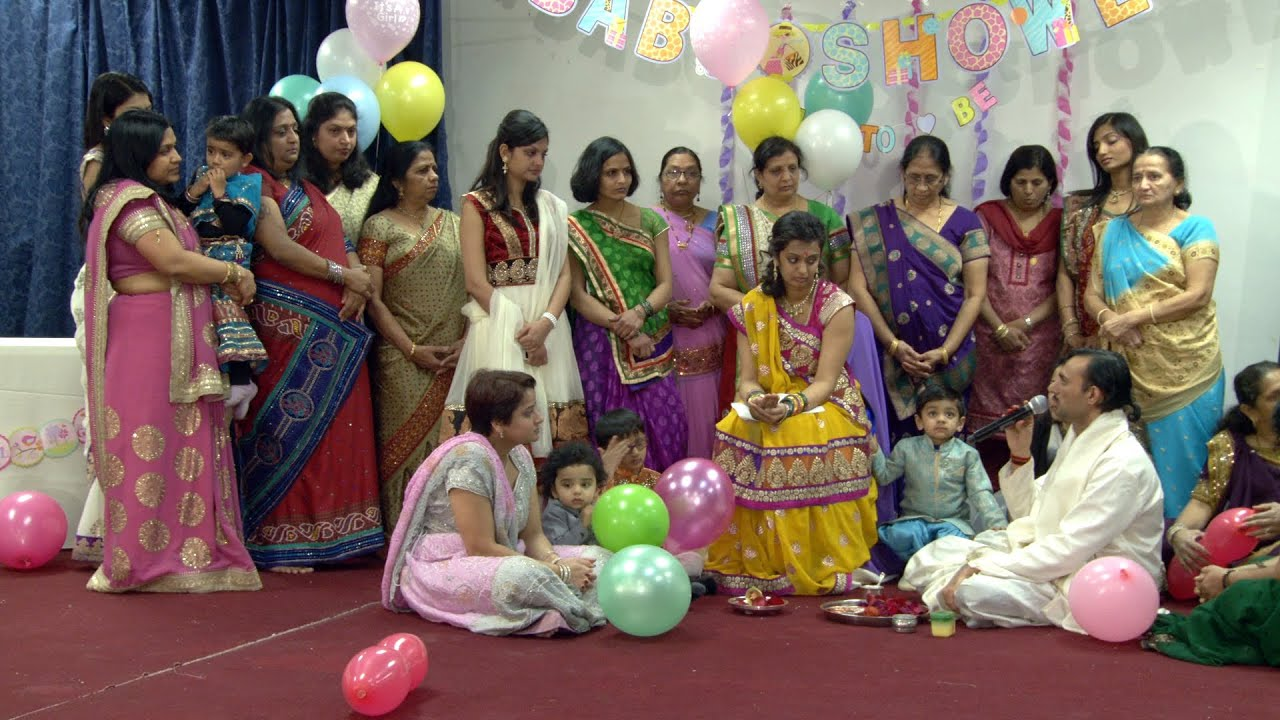 an indian hindu baby shower ceremony at sanatan mandir cultural centre