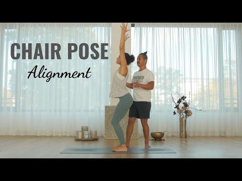 Chair Yoga Pose: How To Do Utkatasana