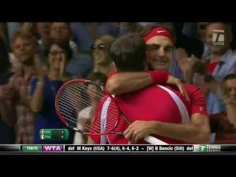 Roger Federer v. Fabio Fognini | Davis Cup 2014 SF Highlights HD
