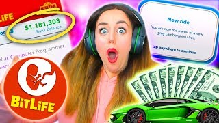 💸💰MILLIONAIRE IN FIRST EVER GAME?!💰💸 (Bitlife #1!)