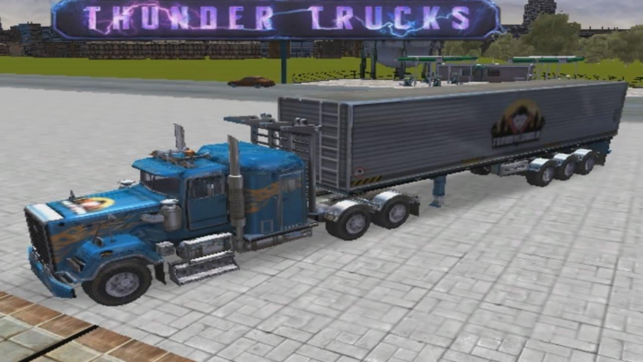 3D Parking Thunder Trucks - Truck Game Video - YouTube