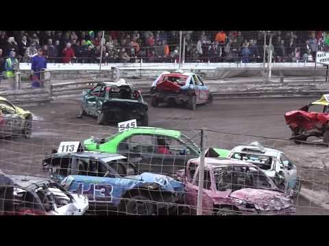 Halloween Havoc Mildenhall Stadium 26/10/14 - Banger Racing - Caravan Destruction Derby