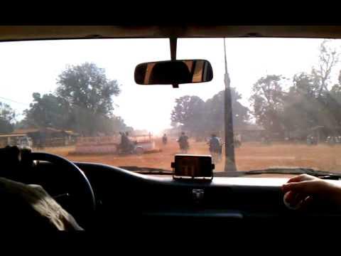 Driving through Yei, South Sudan.