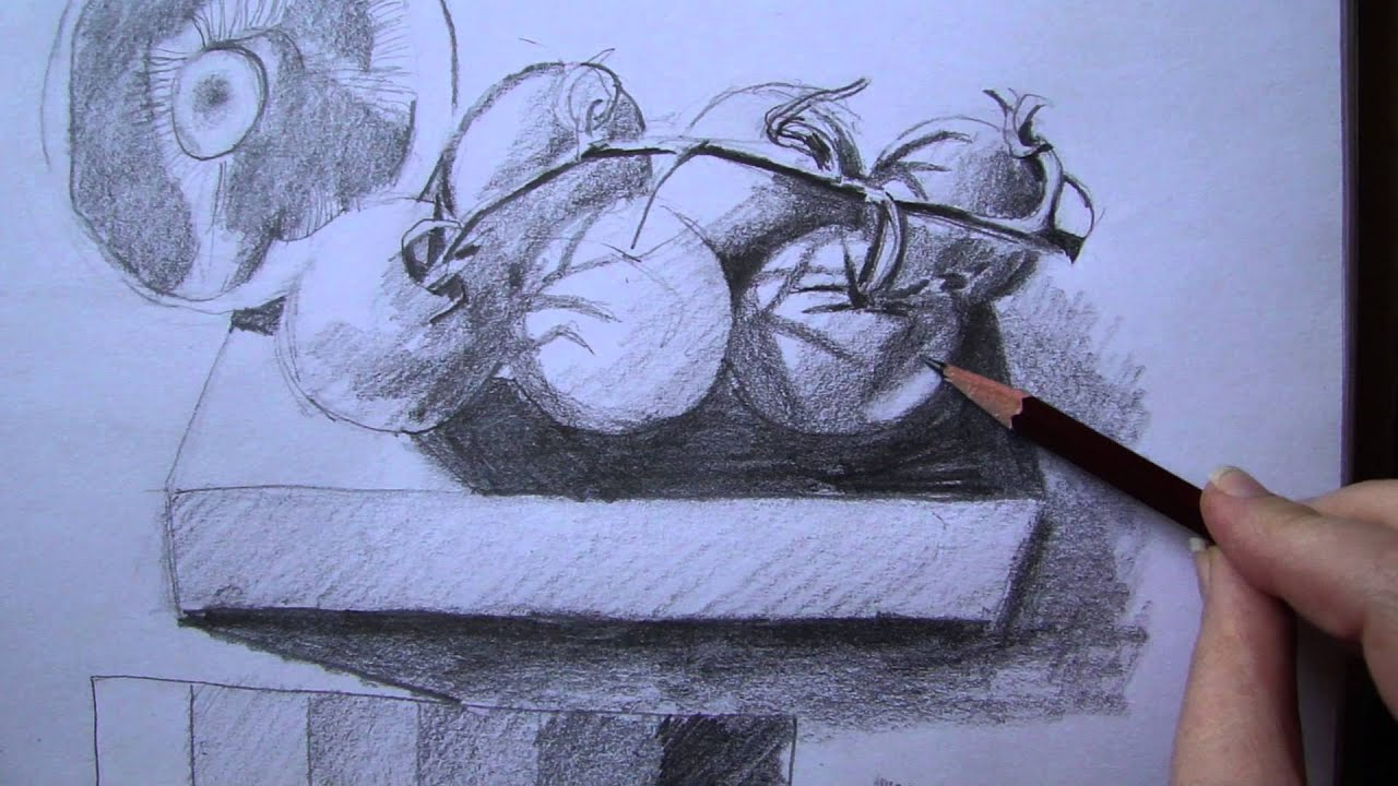 Line Drawing With Shading : Drawing lesson seeing as an artist gradiated shading with pencil