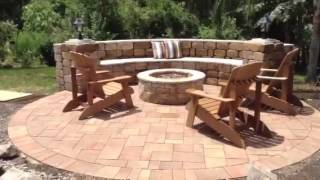 New Backyard Patio With Pergola And Cozy Firepit By A Better Paver Of Altamonte Springs Fl