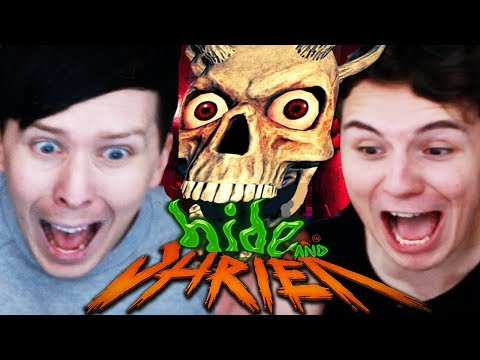 Thumbnail: THE JUMPSCARE SHOWDOWN - Dan vs. Phil: Hide and Shriek