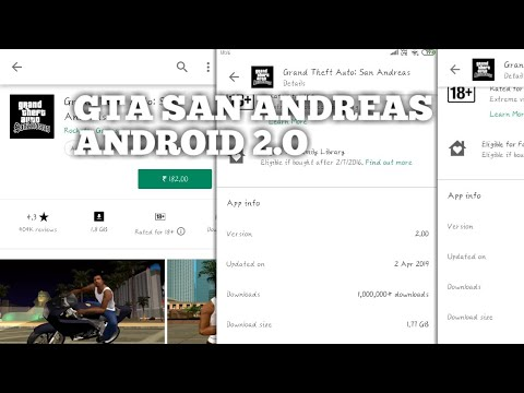 Gta San Andreas Android 2.O Version Working All Devices Nougat & Oreo 100% Must Watch