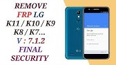 Bypass FRP LG K8 2018 - LG K9 Remove Google Account Android 7 Nougat