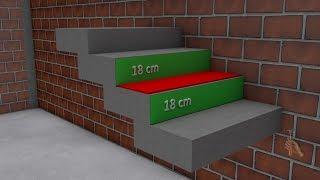 Cálculo de escada  de forma simples e fácil