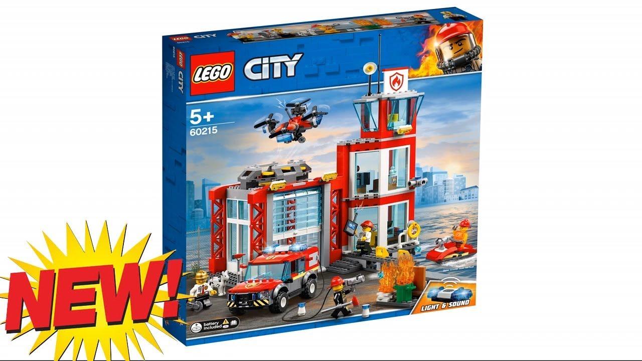 LEGO City Fire Station (60215) (2019) - YouTube