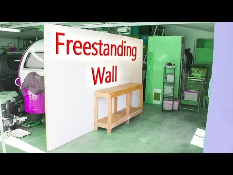 Diy Freestanding Wall Workshop Improvement Project